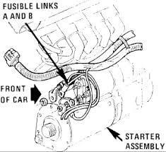 buick regal my son is replacing the starter new one electrical the small wire normally purple will go to the small terminal on the starter s terminal here is a picture of it and wire diagram