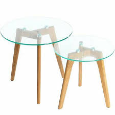 solid wood oak legs and glass top