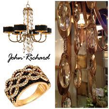 john richard lighting. john richard collection black ties chandelier with a ring lighting