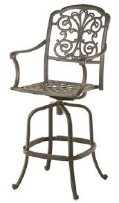 aluminum patio chairs. Bella By Hanamint Luxury Cast Aluminum Patio Furniture Swivel Bar Height  Chair Aluminum Patio Chairs