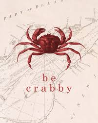 Crab Size Chart Nj Ocean Quotes Be Crabby Red Nautical Vintage Crab Sketch Over Antique Sea Chart Map Cottage Chic Coastal Beach Shore House Decor