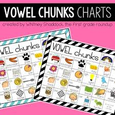 Color Vowel Chart Worksheets Teaching Resources Tpt