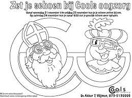 Kleurplaten Sinterklaas Schoen Zetten