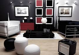 ... Red Black And White Living Room Ideas Superb Dark Wall Stained And  Simple Elegant Unique Ornaments ...