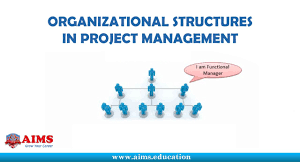 Project Management Organizational Structure Its Definition Types And Charts Aims Lecture