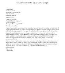 School Administrator Cover Letter Secretarial Cover Letter Bitacorita