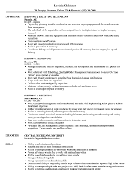 shipping and receiving resume. Shipping Receiving Resume Samples Velvet Jobs