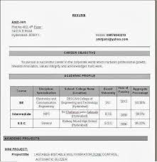 Sample Resume For Freshers Ece Engineers