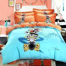 orange and teal bedding blue and orange duvet cover zebra print comforter sets teen and men