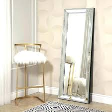 silver floor mirror. Large Silver Floor Standing Mirror Studded Cheap Mirrors Frame Of Leaning Against The Wall Beside Sale