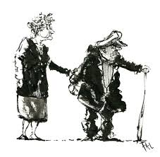 Old Couple Drawing At Paintingvalleycom Explore Collection Of Old