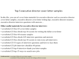 Top 5 Executive Director Cover Letter Samples