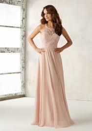 Chiffon Bridesmaids Dress Beading On Bodice Morilee