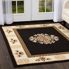 black and beige area rugs oriental black area rug 4 6 persian chinese carpet 14 actual 3
