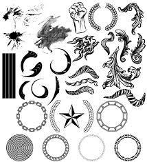 Geometric Elements Halftone Splatters Free Illustrator Vector Pack