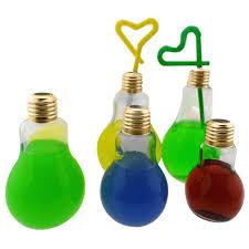 Light Bulb Drink Bottle Amazon Com Smytshop Summer Brief Glowing Bulb Water Bottle