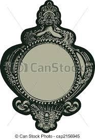 Classic fancy mirror emblem Classic fancy mirror frame stock