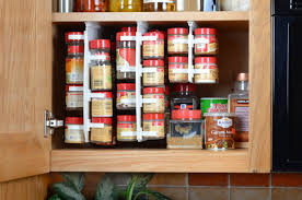 Plastic Kitchen Cabinets Kitchen White Plastic Sliding Spice Racks For Cabinets