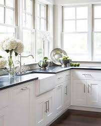 White Kitchen Cabinets With Black Countertops Fascinating The Most Timeless Granite Maria Killam The True Colour Expert