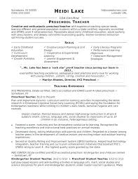 15 Unique Preschool Teacher Assistant Job Description Resume