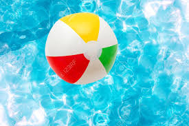 pool water with beach ball. Beach Ball In Water - Pool With H