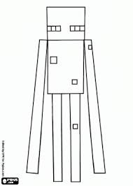 An Enderman A Minecraft Creature With Long Arms Coloring Page