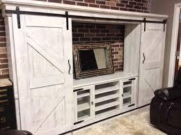 barn door entertainment center