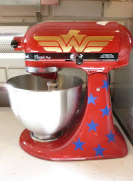 kitchenaid mixer appliances. wonder woman mixer decorated with decals kitchenaid appliances