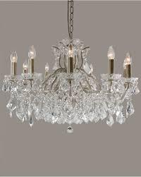 eden brushed gold 12 light shallow glass crystal chandelier