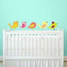 nursery bird wall decal set of 5