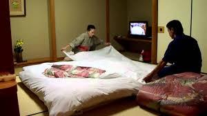 Japanese Style Table Setting Futon Setup By The Pros At Japanese Hotel Onsen Ryokan Massage