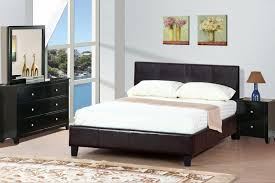 brown leather queen size bed  stealasofa furniture outlet los