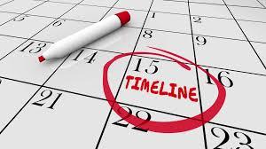 Timeline Calendar Days Dates Schedule 3 D Animation Motion