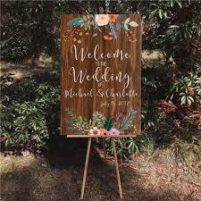rustic wedding sign printable wedding welcome sign wood wedding signs wood bohemian wedding sign