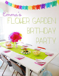 emma s flower garden birthday party