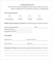 Workplace Incident Report Form Heartimpulsarco 275608585076 Free