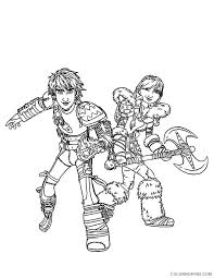 A page for describing headscratchers: How To Train Your Dragon Coloring Pages Hiccup And Astrid Coloring4free Coloring4free Com