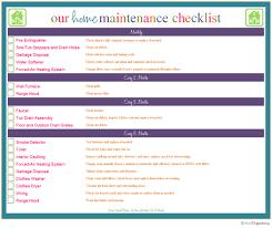 Household Maintenance List