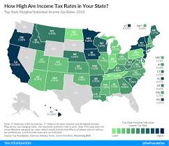 top state marginal individual ine tax rates 2018
