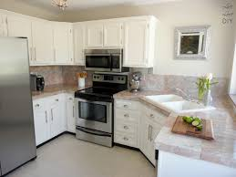 Beautiful Painting Oak Kitchen Cabinets White Repaint For Design Ideas