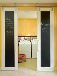 love these double sliding doors with chalkboards originally from bhg com but you can