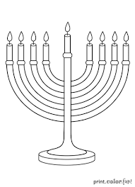 Menorah Coloring Page Print Color Fun