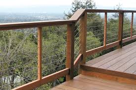 installing cable railings professional deck builder fencing and railing framing design engineering cable deck railing n35