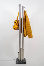 Stainless Coat Rack Italian Stainless Steel And Marble Coat Rack With Integrated Light 13