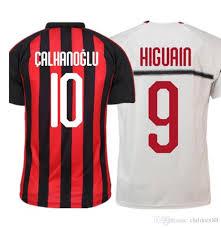 Home 49 Dal Away Higuain Calhanoglu Kalinic 3 16 18 19 A Caldara Calcio Da Suso Milan Maglia Maglie Ac Acquista Divise