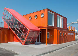 Container Office Design Impressive Angled Shipping Container Houses Stairs For Office By Potash