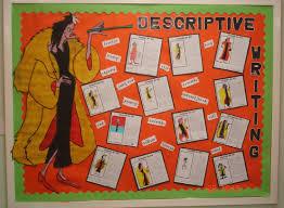 descriptive writing classroom display photo sparklebox