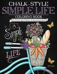 chalk style simple life coloring book color with all typ s