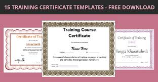 free training completion certificate templates 15 training certificate templates free download designyep