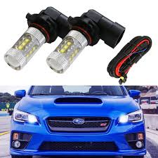 2015 Wrx Bulb Size Chart Ijdmtoy 8k Blue 80w 16 Cree 9005 Led High Beam Daytime Running Lights For Subaru Impreza Legacy Wrx Sti Etc
